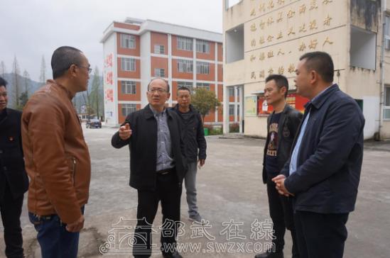 邵武市委常委、宣传部部长龚建春到洪墩中心小学调研