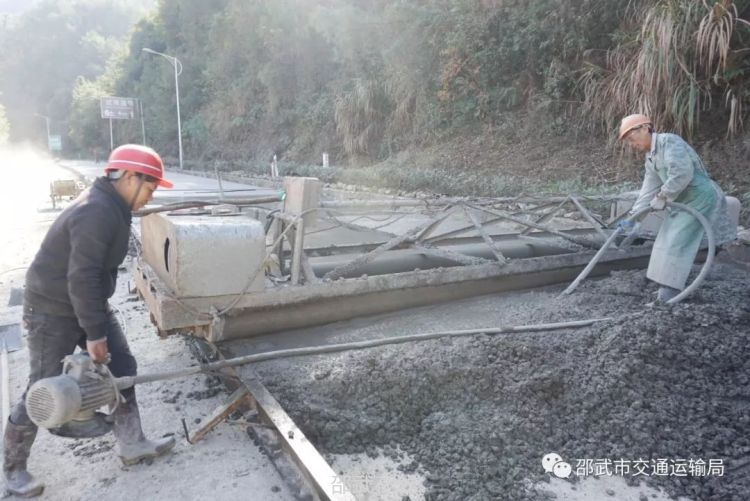 邵武市农村公路灾后重建工作稳步推进