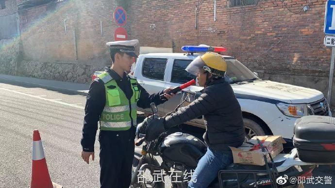 邵武交警開展冬季逢十酒駕整治行動
