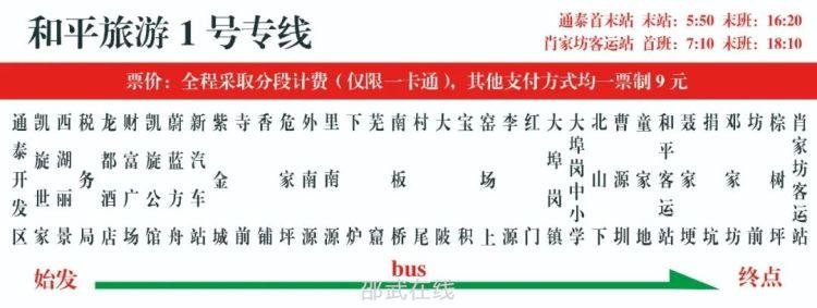 """好!消!息! """"和平古镇旅游1号专线"""" 7月30日正式开通啦!"""